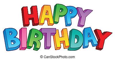 Feliz cumpleaños gran signo 1