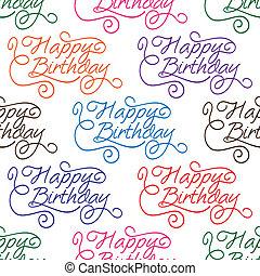 Feliz cumpleaños sin marcas de fondo