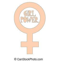 Feliz día de mujeres internacionales. Concepto el número ocho con el símbolo del espejo de Venus.