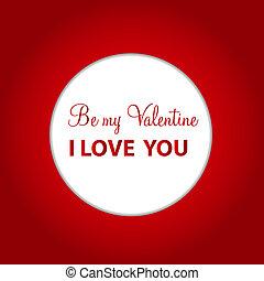 Feliz día de San Valentín con corazón. Ilustración del vector