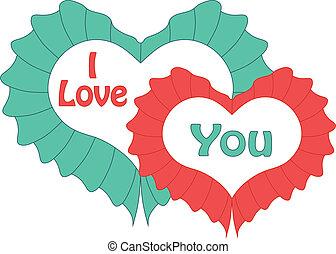 Feliz día de San Valentín con corazón. Vector