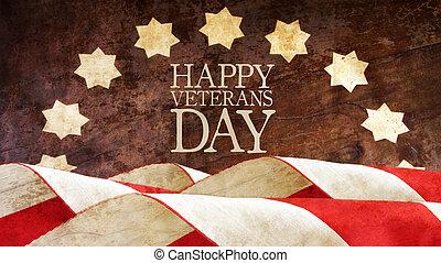 Feliz día de veteranos. Banderas