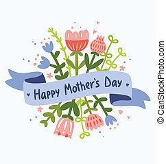 Feliz día floral de la madre