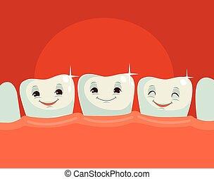 Feliz dientes sanos