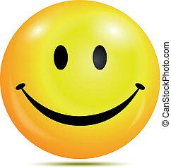 Feliz emoticon sonriente
