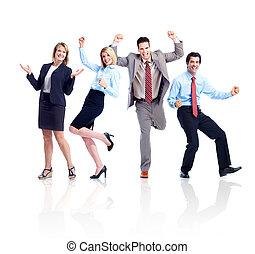 Feliz equipo de gente de negocios.