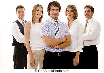 Feliz equipo de negocios