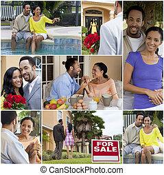 Feliz estilo de vida romántico de la pareja americana