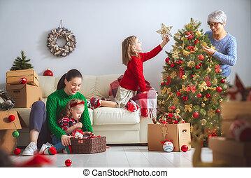 Feliz familia amorosa