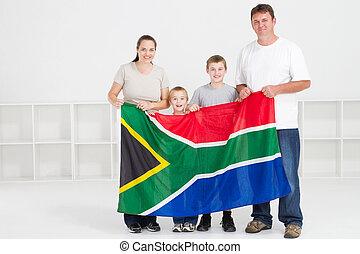 Feliz familia del sur africano