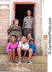 Feliz familia negra