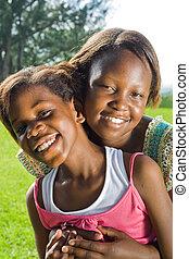 Feliz hermana africana