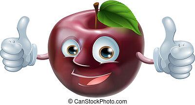 Feliz hombre de manzana