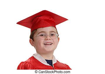 Feliz joven graduado