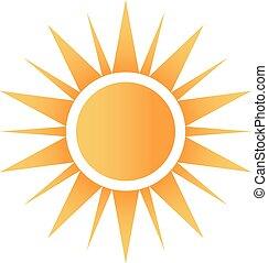 Feliz logotipo del sol