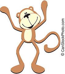 Feliz mono lindo
