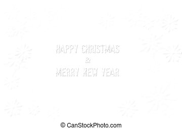 Feliz Navidad  ⁇  feliz año nuevo aislado en blanco y cop de nieve