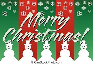 feliz navidad, snowmen