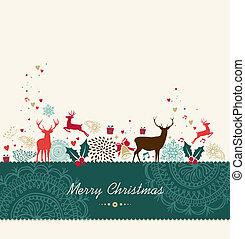 Feliz Navidad tarjeta de felicitación