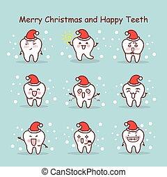 Feliz Navidad y dientes felices