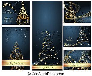 Feliz Navidad y feliz colección de año nuevo