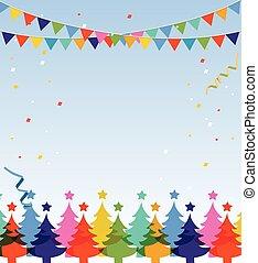 Feliz Navidad y feliz postal de año nuevo.