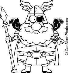 Feliz Odin de dibujos animados