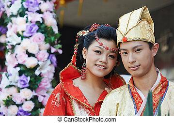 Feliz pareja china