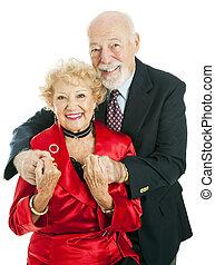 Feliz pareja de ancianos