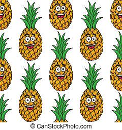 Feliz piña tropical sin costura