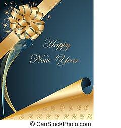 feliz, plano de fondo, año nuevo