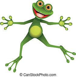Feliz rana verde