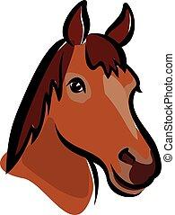 Feliz retrato de caballo