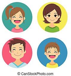 Feliz retrato de familia