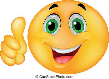 Feliz rostro de emoticon sonriente
