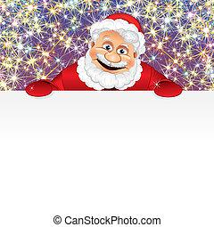 Feliz Santa con espacio