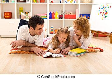 feliz, sitio de los cabritos, familia , lectura