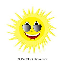 Feliz sol de verano con gafas de sol