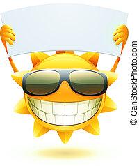 Feliz sol de verano