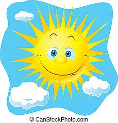 feliz, sol