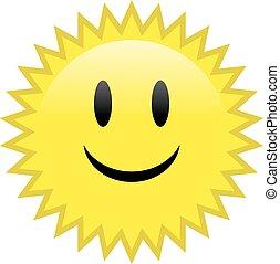 Feliz sol sonriente