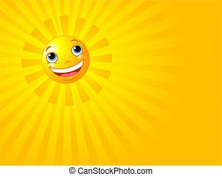 Feliz sonriente pasado de verano