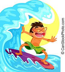 Feliz surfista
