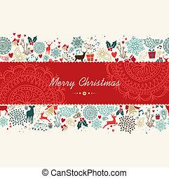 Feliz tarjeta de felicitación de Navidad