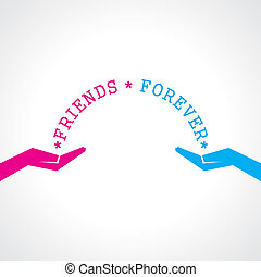 Feliz tarjeta de felicitación del día de la amistad