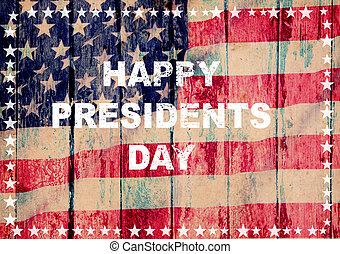 Feliz tarjeta de felicitación del presidente