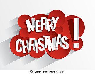 Feliz tarjeta de Navidad