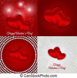 Feliz tarjeta de San Valentín con corazón. Ilustración de vectores