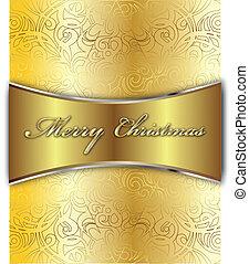 Feliz tarjeta de vector de Navidad