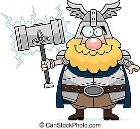 Feliz Thor de dibujos animados